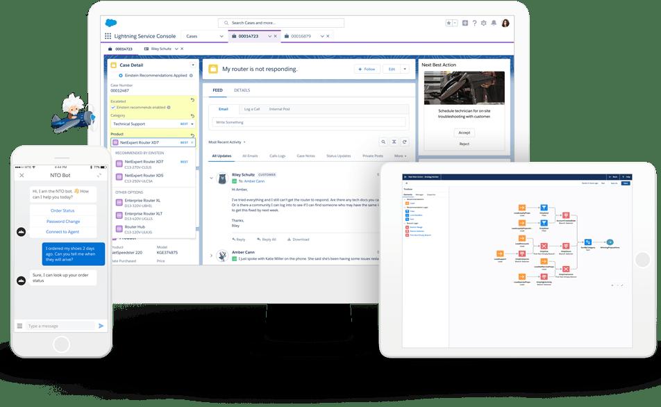 カスタマーサービス向けのAIチャットボット — Einstein for Serviceで、サポート業務の効率化とオペレータの生産性を向上|AI・人工知能製品・サービス・ソリューション・プロダクト・ツールの比較一覧・導入活用事例・資料請求が無料でできるメディア
