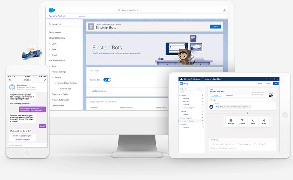 Einstein for Service「Einstein ボット」の画面|AI・人工知能製品・サービスの比較一覧・導入活用事例・資料請求が無料でできるメディア