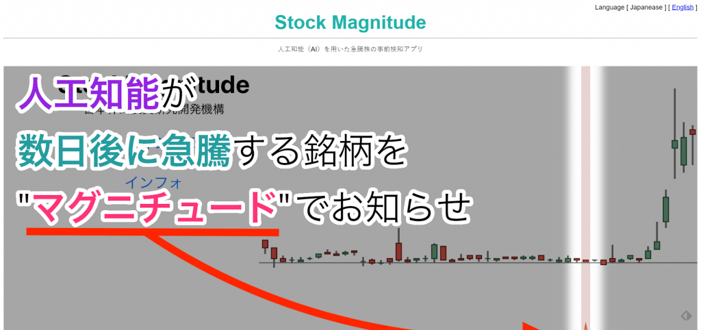 株価予測アプリ3: 急騰する株をAI・人工知能が予想 【Stock Magnitude】