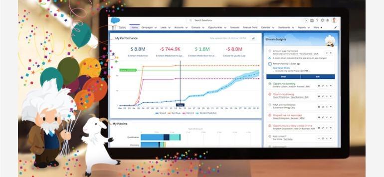 営業を効率化!Salesforceが提供するAI「Einstein」の価格はどれくらい?|人工知能を搭載した製品・サービスの比較一覧・導入活用事例・資料請求が無料でできるAIポータルメディア