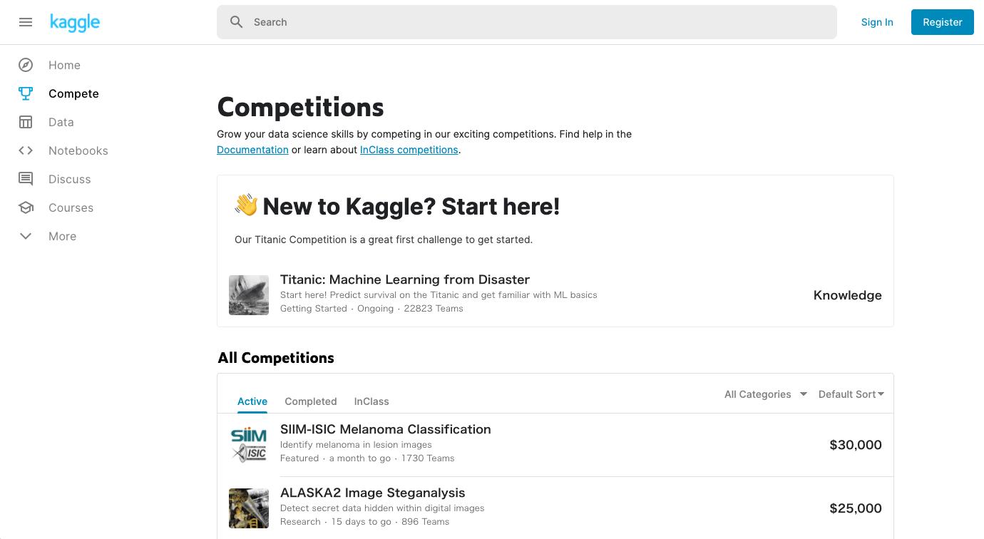 ■kaggleの各機能|人工知能を搭載した製品・サービスの比較一覧・導入活用事例・資料請求が無料でできるAIポータルメディア