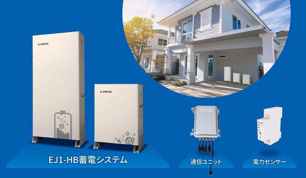 AI制御を搭載した新しい蓄電池「EJ1-HB蓄電システム」を発売