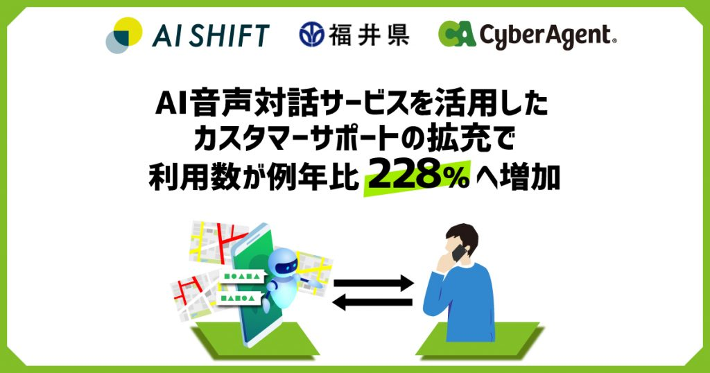 AI Messenger Voicebot、カスタマーサポートの拡充で利用数が例年比228%へ増加