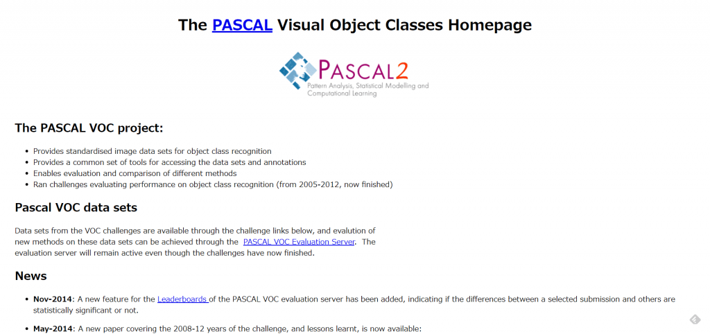 ・Pascal VOC Dataset