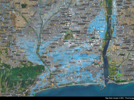 Spectee、7月3日に発生した河川の氾濫による浸水をAIで解析
